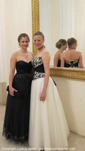 The gorgeous ladies in their princess dresses and beautifully complicated updo