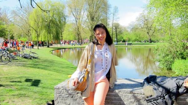 Queen's day in Vondelpark. Wearing orange is a must!