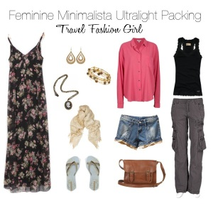 minimalist packing with four clothing items feminine travel