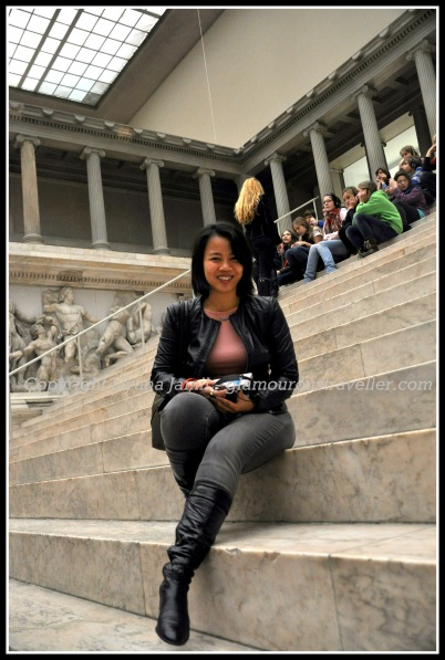 Hanging out on the steps of the Pergamon altar