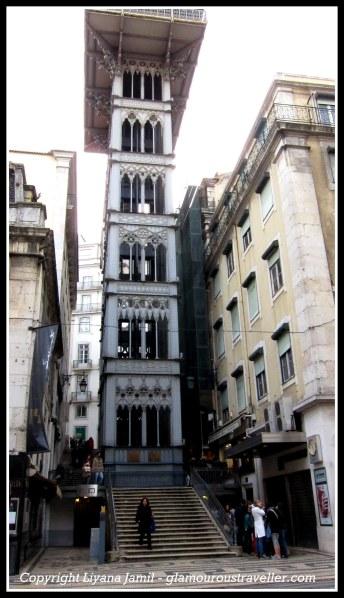 How Lisbon-ettes move uphill quickly part 2: Santa Justa lift